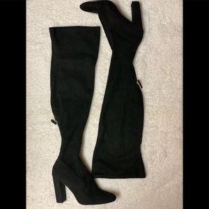 Steve Madden Black Suede Knee high Boots